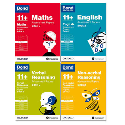 Bond 11+ Maths English Non-verbal Reasoning Assessment Book 2 - Age 9-10 - NEW