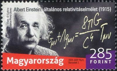 Hungary 2015 A. Einstein/Scientists/Space/Science/Mathematics/People 1v (n45156)