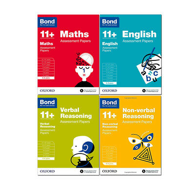 Bond 11+ Assessment  English Maths Verbal Reasoning For Age 5 - 6 Years - NEW
