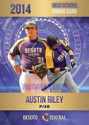 Austin Riley 2014 Rookie Phenoms Gold First Ever Rookie High School Card Braves