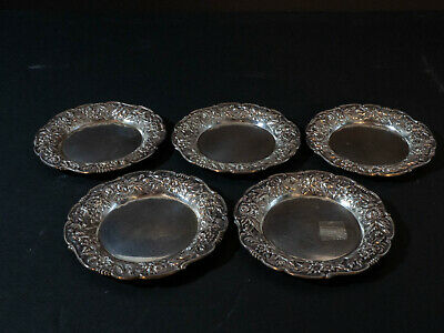 Kirk and sons, Repousse butter dishes, 6pc.