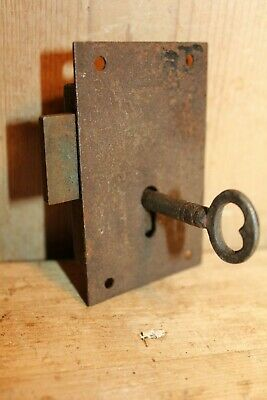 Antique/Vintage~Furniture Lock & Key~Old Pine Cupboard/Dresser~Door~