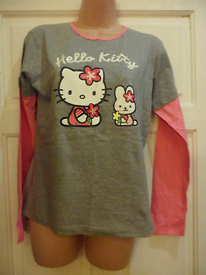 0db7cd9b5 Girls Hello Kitty Double Layer Long Sleeve Top Jumper 13 - 15 Years **Free