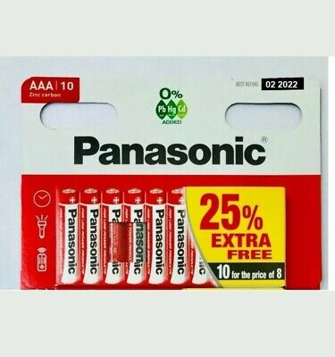** 1000x AAA Genuine PANASONIC Zinc Carbon Batteries - 1.5V Joblot Wholesale **