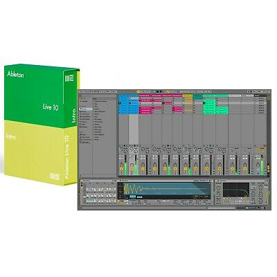 Ableton Live 10 Intro DAW Software with 1500+ Sounds (5GB+), 16 Tracks, Boxed