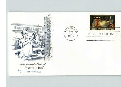 PHARMACY Profession, 1972 First Day of Issue, pic Pharmacist, canc. Cincinnati,