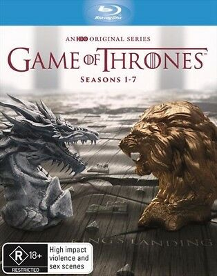 Game Of Thrones The Complete Seasons 1-7 : NEW Blu-Ray Box Set