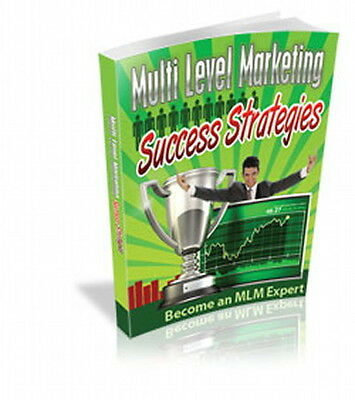 MULTI-LEVEL Marketing Success Strategies - Be An MLM Expert For Huge Income (CD)