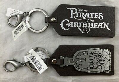 Disney Parks Pirates of the Caribbean There Be Squalls Ahead Keychain Vinyl NEW