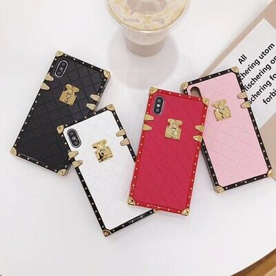 Luxury Plating Plaid PU Leather Strap Soft Case Cover For iPhone XS Max XR 8 7 6
