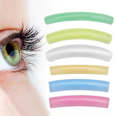 6Pcs Eyelash Lift Perming Curler Pads Shield Rods Silicone Embedded Ridges