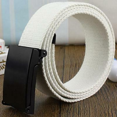 Fashion Men Outdoor Sports Military Tactical Nylon Waistband Canvas Web Belt GG