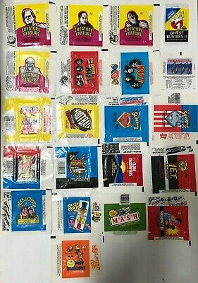Trading Card Wax Wrapper Lot Of 21, Most Are Topps