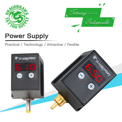 New Digital Display Rechargeable Tattoo Machine Battery Pack RCA/DC Power Supply