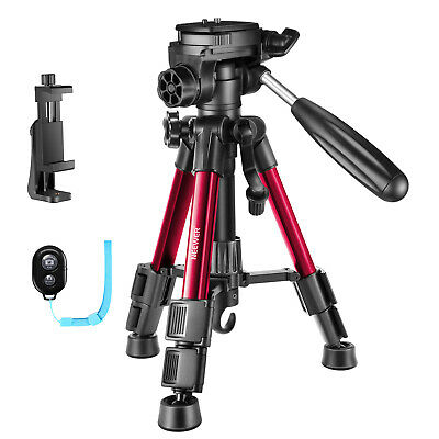 Neewer Red Mini Travel Camera Tripod 24 inches/62cm with Holder/ Remote Control