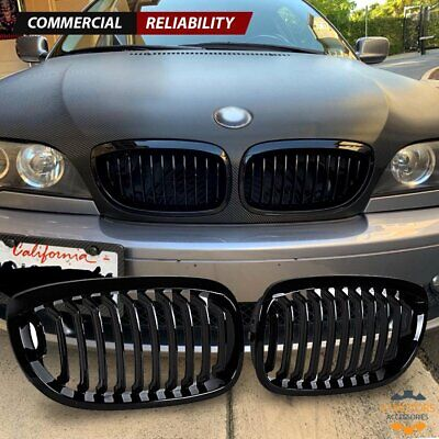 Gloss Black Front Kidney Grill for BMW E46 Coupe 325Ci 330Ci LCI 2DR 2003-2006