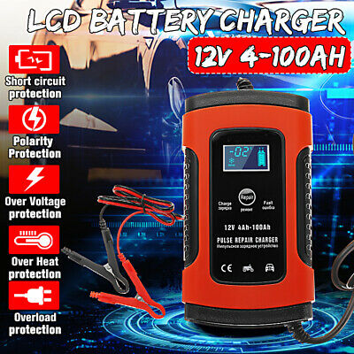 For Car Motorcycle AGM GEL WET Lead Acid Battery LC 12V 5A Pulse Repair Charger