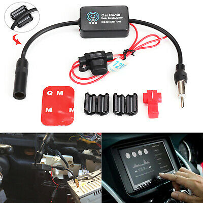 12V Auto Car Truck Antenna Aerial Radio Signal FM AM Amp Amplifier Booster