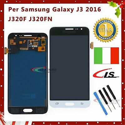 LCD Display Per Samsung Galaxy J3 2016 J320F J320FN Touch Screen Schermo Bianco