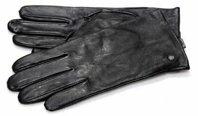 Roeckl Nappa Classic Slim Black Leather Gloves Thin Padded Winter