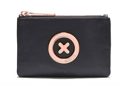 MIMCO Black Leather Small Pouch Supernatural Wallet Purse Clutch BNWT Authentic
