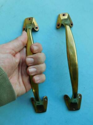 1900s Antique Elegant Edwardian Brass Door Pull handle Pair