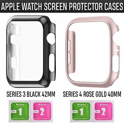 For Apple Watch Series 3 4 iWatch  Clear TPU Screen Protector Case Front Cover