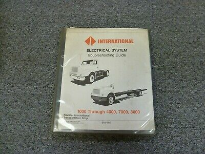 1990 international 4600 4700 4800 4900 truck electrical wiring diagrams  manual