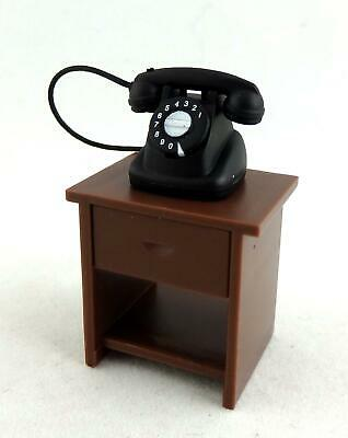 Melody Jane Dolls House Miniature 1:24 Side Table & Telephone Magnetic