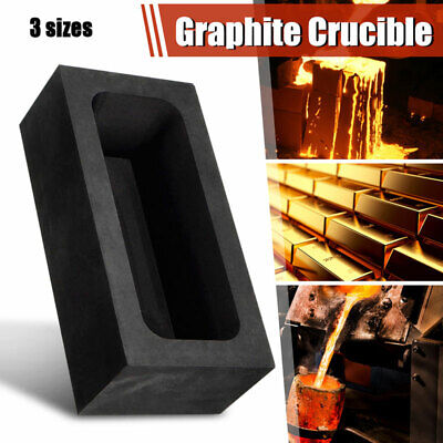 1X Graphite Casting Ingot Bar Mold For Gold Silver Copper Melting Refining Scrap