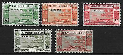 New Hebrides (French) Sgfd65/9 1938 Postage Due Set Mnh