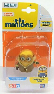 Despicable Me Minions Bored Silly Bob Collectible Mini Poseable Figure Toy