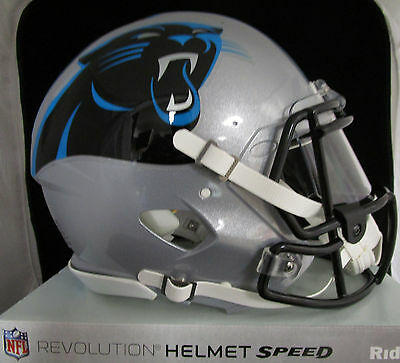 CAROLINA PANTHERS Full Size AUTHENTIC SPEED Helmet - With VISOR (NFL LICENSED)