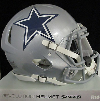 DALLAS COWBOYS Full Size AUTHENTIC SPEED Helmet - With VISOR (NFL LICENSED)