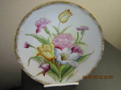 NORLEANS CHINA HAND PAINTED COLORFUL FLORAL COLLECTOR PLATE Made in Japan!