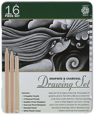Graphite-Drawing-Pencil-Tin-6pc-Set-Pentalic