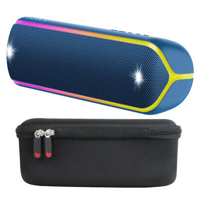Sony SRS-XB32 EXTRA BASS Portable Bluetooth Speaker (Blue) with Hard Case