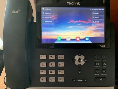 YEALINK SIP-T48G T48G Skype IP Office Telephone PoE TESTED! FREE