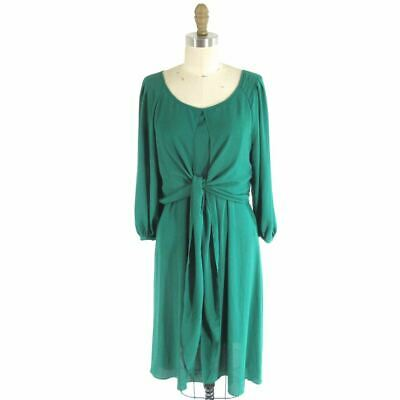 9f1d280d1a716 6 - Maeve Anthropologie Valparaiso Tie Front Kelly Green Chiffon Dress  0424CR