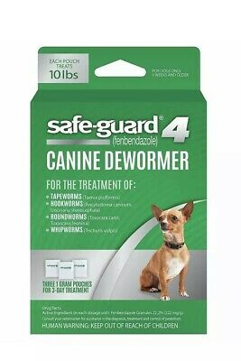 8in1 Safe-Guard Canine Dewormer for Dogs, 3-Day Treatment,S FAST SHIPPING USA