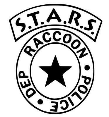 Resident Evil S.T.A.R.S Raccoon City Police Dept. Badge Vinyl Decal for Car, Hom
