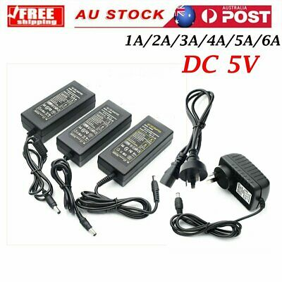 DC 5V 1A/2A/3A/4A/5A/6A Power Supply Charger Transformer Adapter For LED Strips