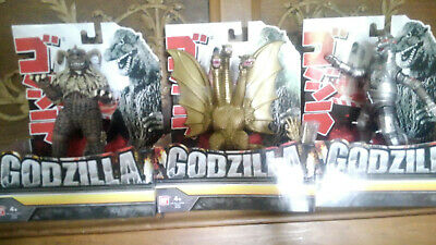 3 Godzilla monsters vinyl bandi King Gadorah Mechagodzilla King Caesar