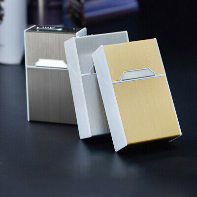 Windproof USB Electric Flameless Rechargeable Smoking Cigarette Lighter box case