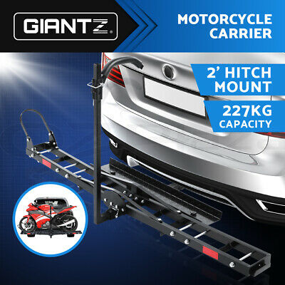 "Giantz Motorcycle Motorbike Carrier Rack 2"" Towbar Arm Rack Dirt Bike Ramp Steel"