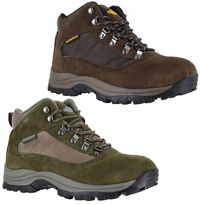 Mens Northwest Terrain 2 Waterproof Lace Up Walking Hiking Boots Sizes 7 to 12