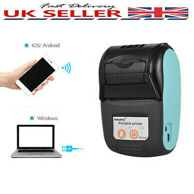 Portable Mini Thermal Printer 58mm Receipt Printer Bluetooth For Android IOS UK