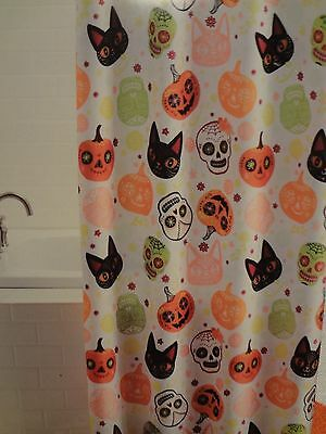 Day of the Dead Sugar Skull Fabric Shower Curtain