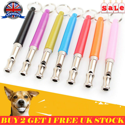 Dog Whistle Puppy Training Ultrasonic Pitch Sound Adjustable Silent Key Chain LE