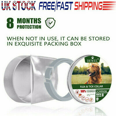 63.5CM Natural Flea Collar For Dog - Flea and Tick Protection For Up to 8 Months